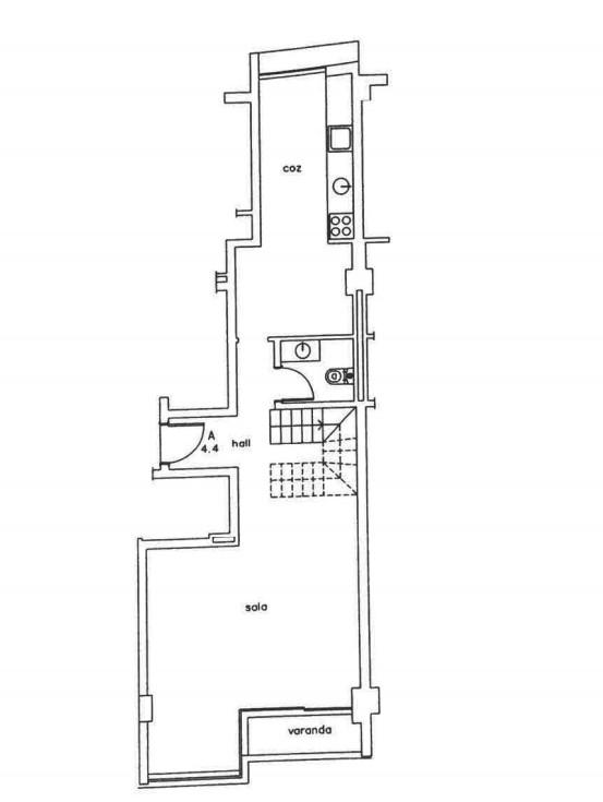 Apartamiento duplex de 2 habitaciones