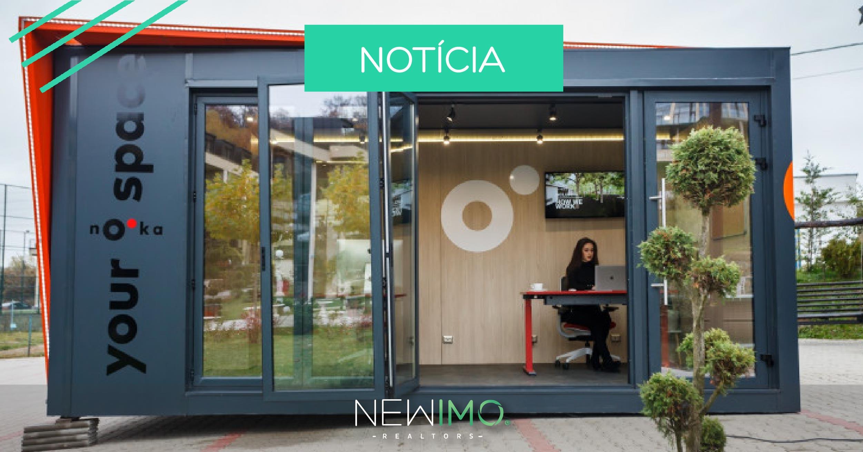 Nooka, um escritório pré-fabricado que pode ser arrendado para facilitar o teletrabalho